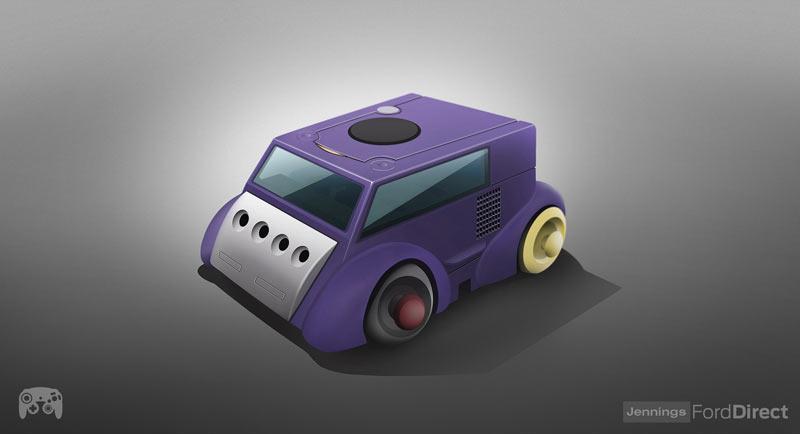 Design inspirado na Nintendo Gamecube